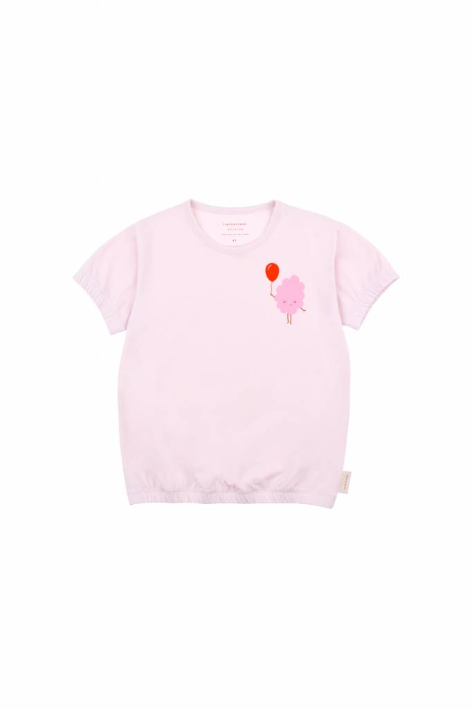 Candy Floss Baggy Tee Pearl/Pink