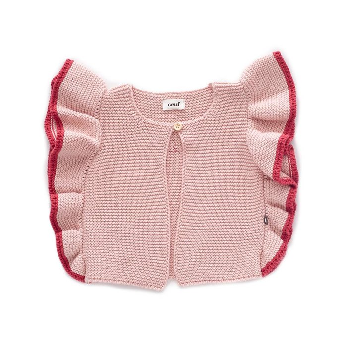 Ruffle Vest Light Pink