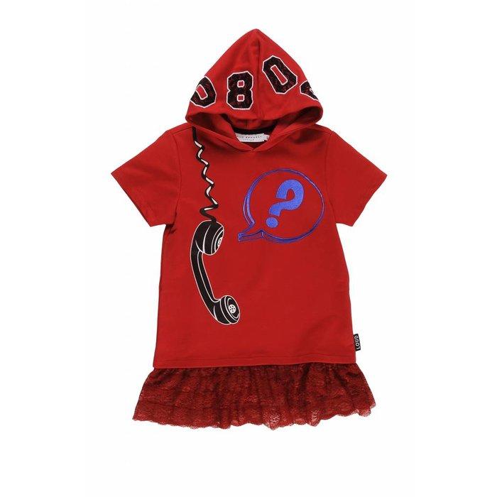 Enjoy Dress Hoodie Racing Red/ No Lace