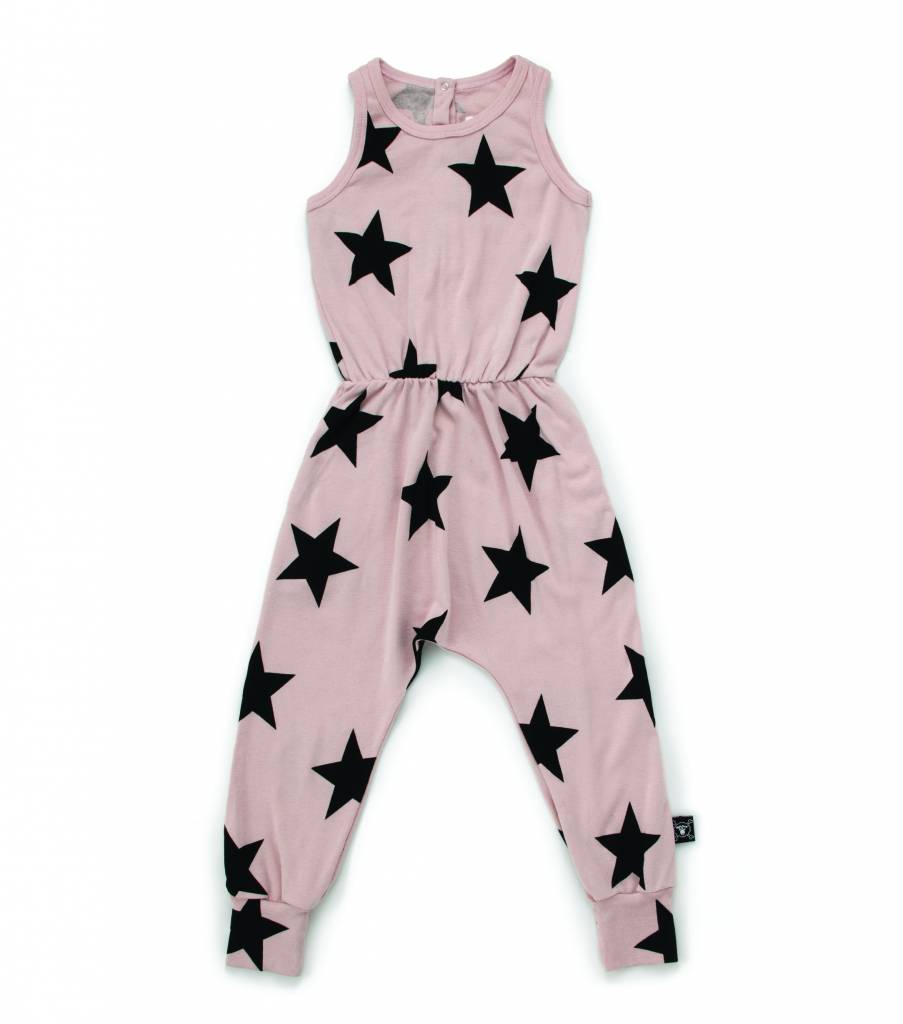 Star Romper Powder Pink