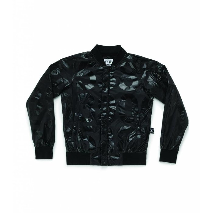 Nylon Numbered Jacket Black