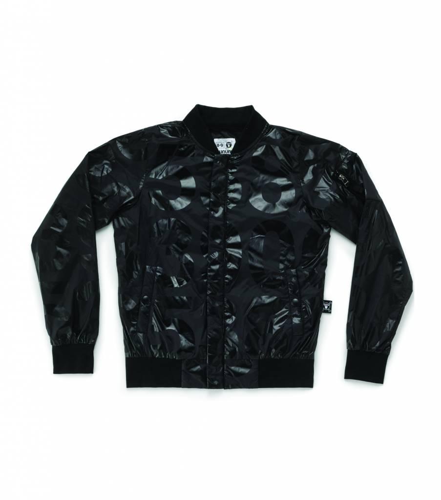 Nylon Numbered Jacket Black