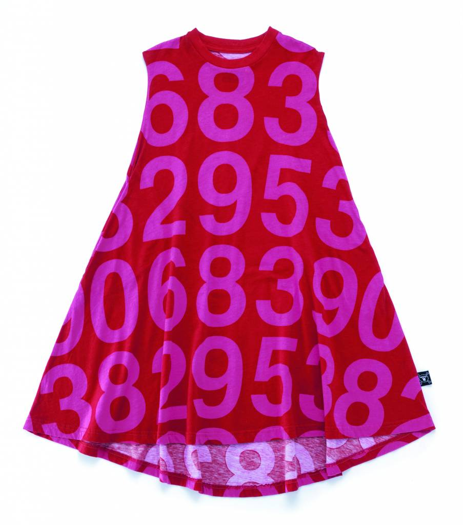 Numbered 360 Dress Red