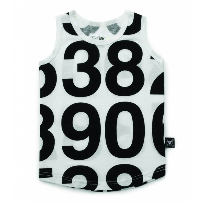 Number Tank Top White