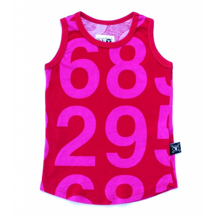 Number Tank Top Red