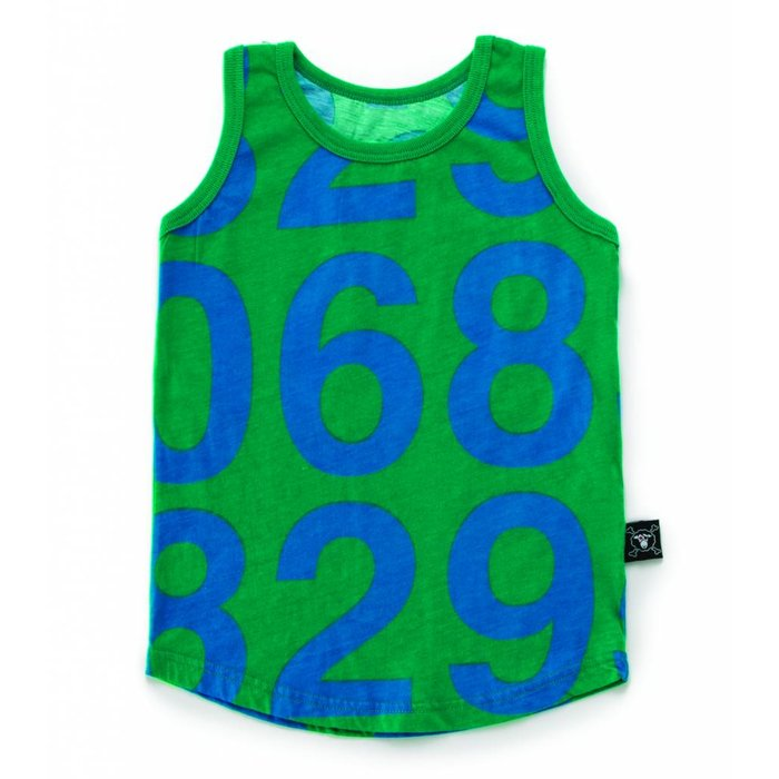 Number Tank Top Green