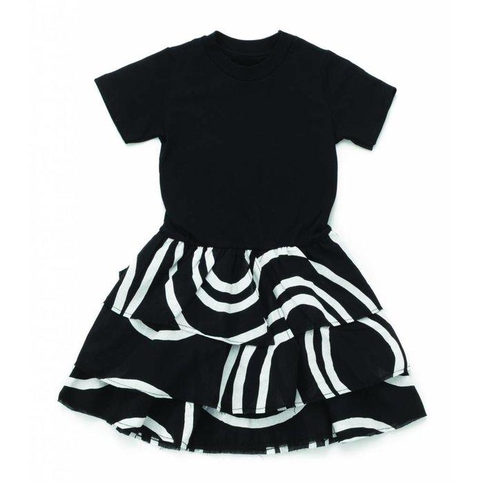 Layered Circle Dress Black