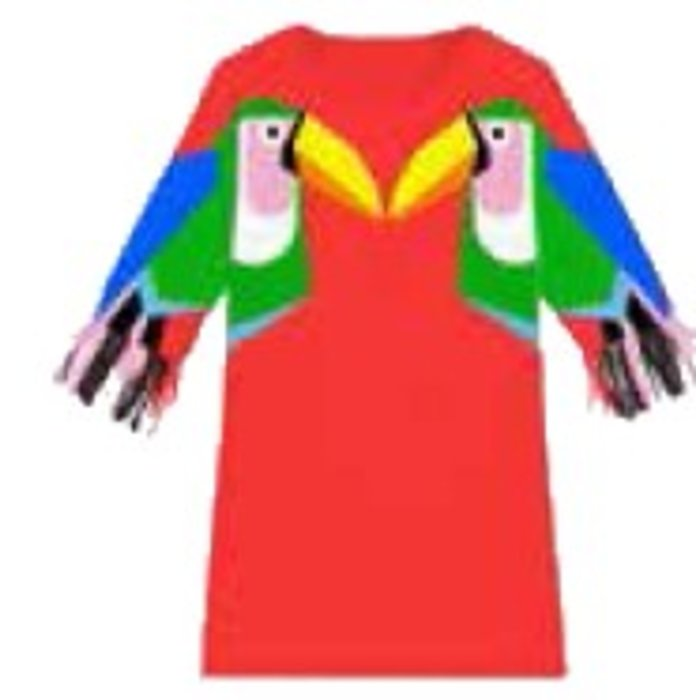 Toucan Dress Red