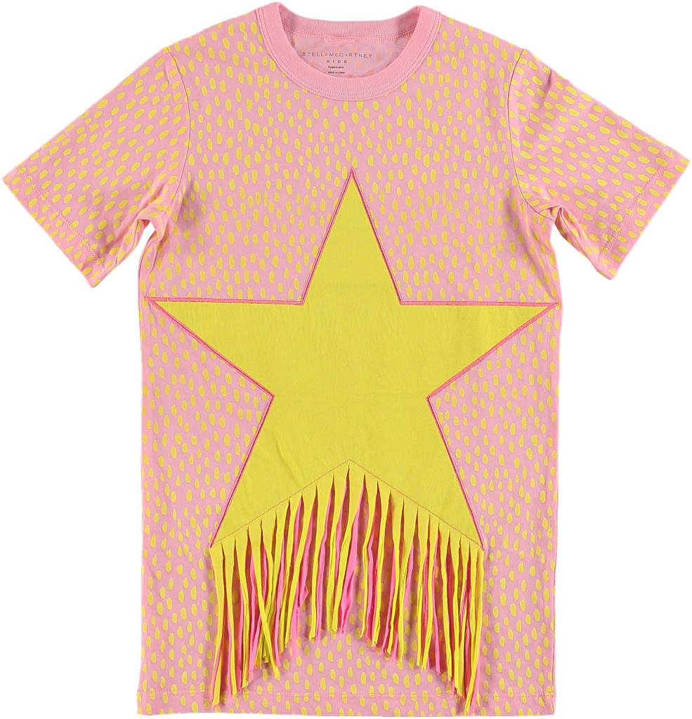 Fringed Star Dress Early Pink Yellow