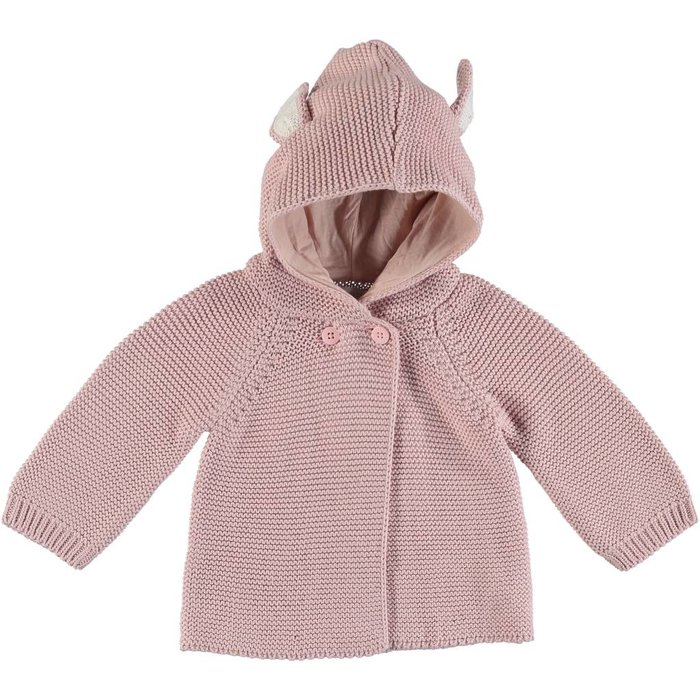 Cardigan with Ears Pink