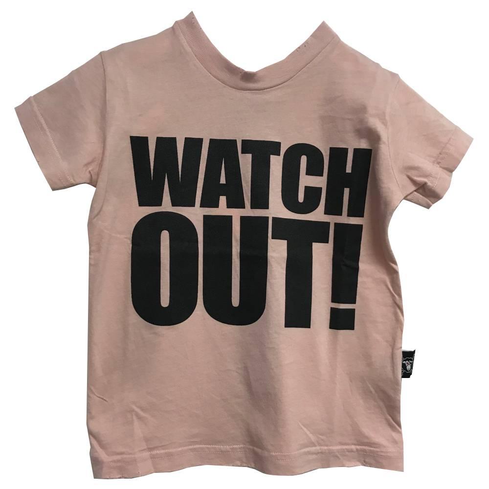 Watch Out Tshirt Powder Pink