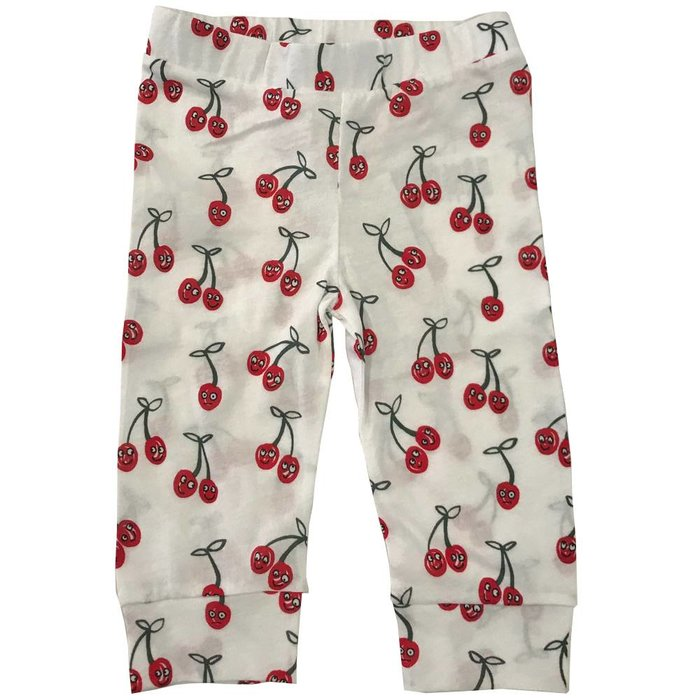 Cherries Leggings White