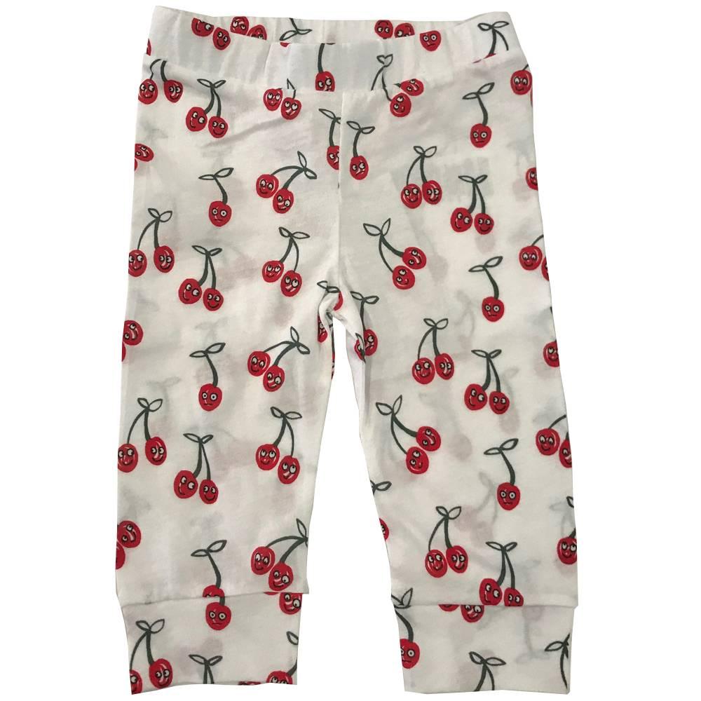 Cherries Leggings White