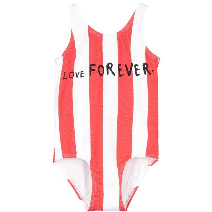 Swimsuit Deck Chair Stripe Ecru/ Tomato Red