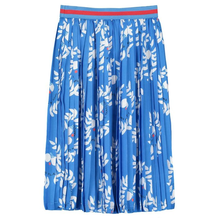Pleated Skirt Ping Pong Club Ink Blue