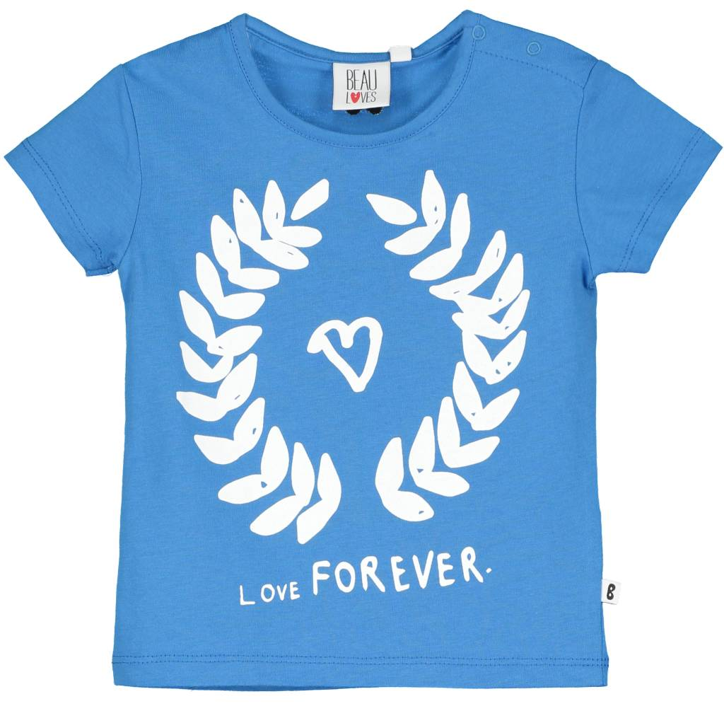 Baby Tshirt Loves Forever Garland Ink Blue