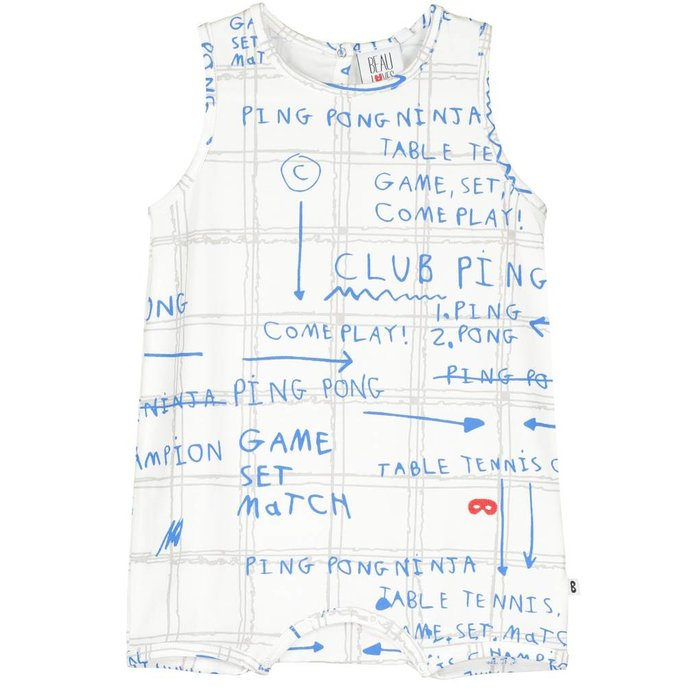Baby Romper Game Plan Ecru