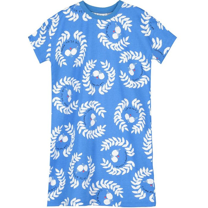 Jersey Tshirt Dress Ping Pong Club Ink Blue