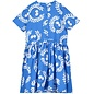 Button Front Dress Ping Pong Ink Blue
