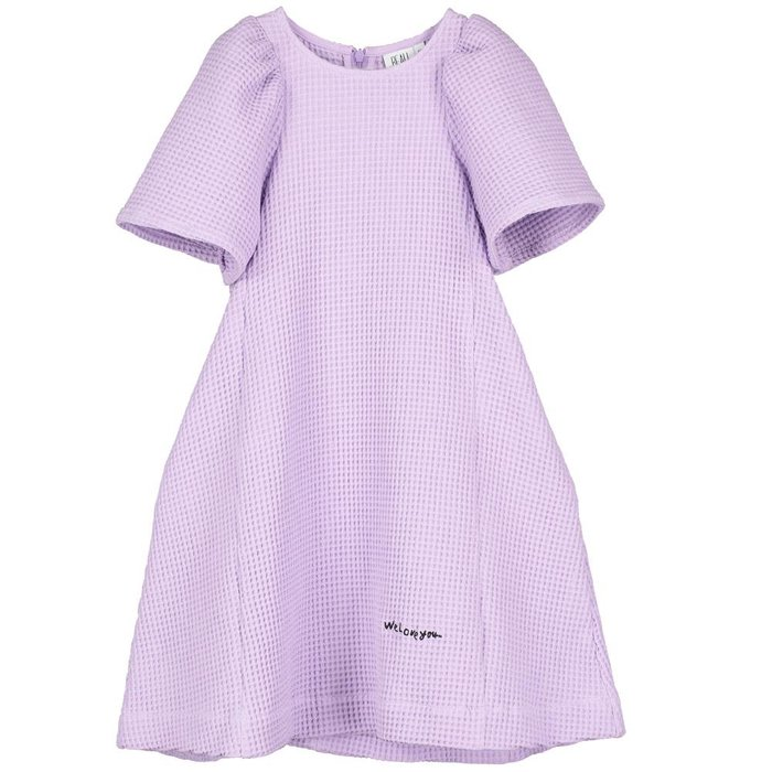 Ballon Sleeve Dress Violet