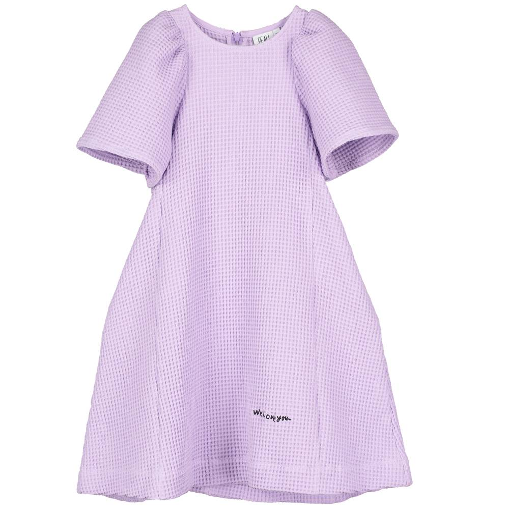 Ballon Sleeve Dress Violet