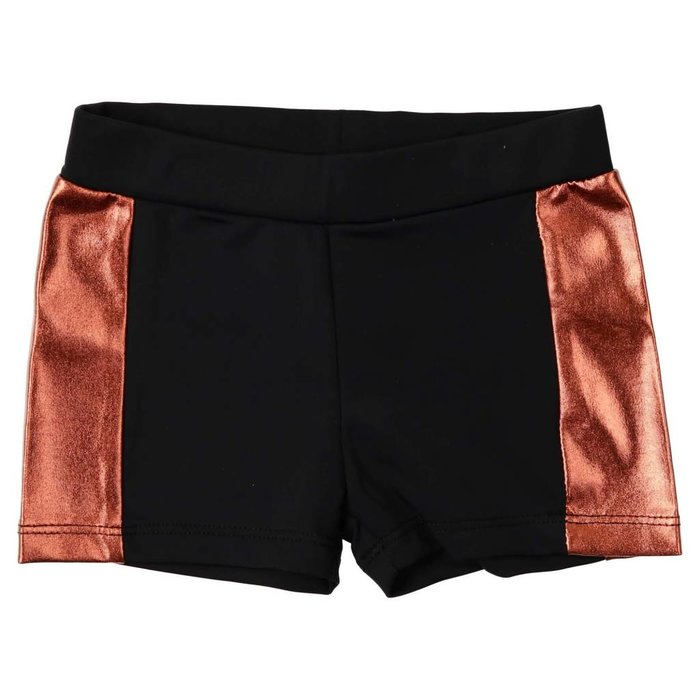 Tight Swim Trunks Black/Rose Gold