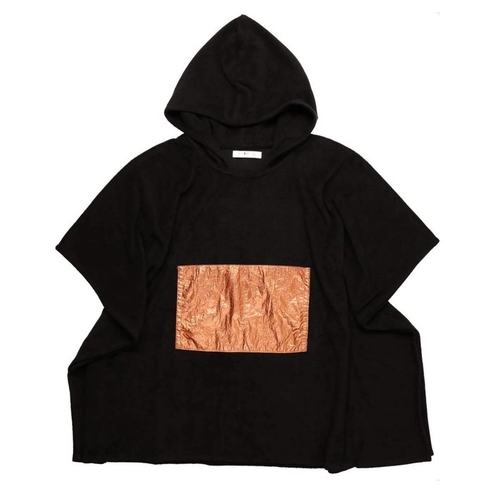 Terry Poncho Black/Rose Gold