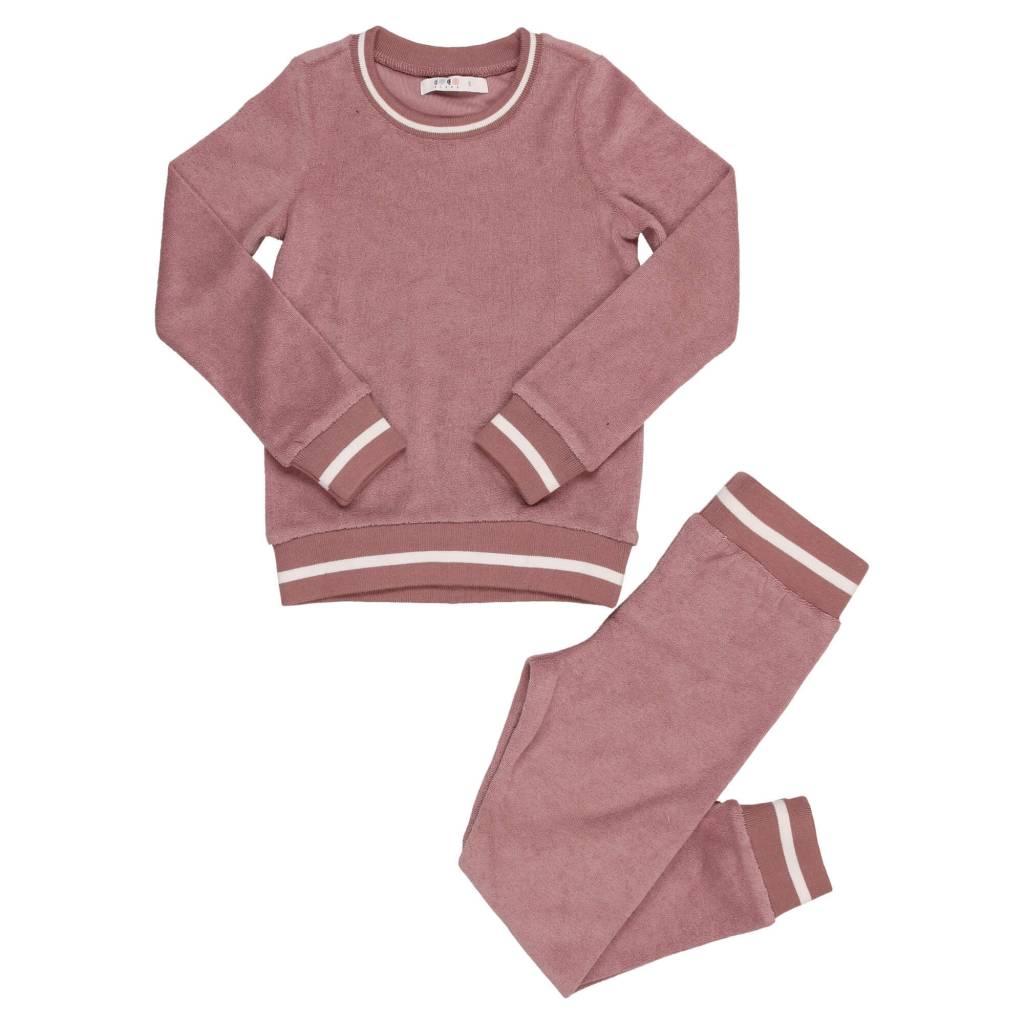 Terry Pajama Deep Rose