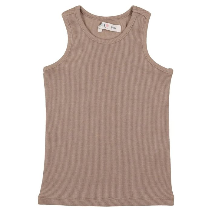 Ribbed Tank Taupe