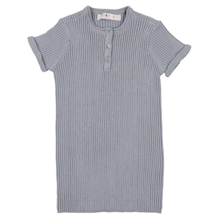 Knit Henley Ice Blue