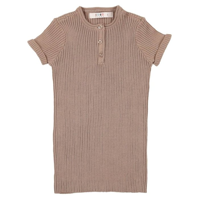 Knit Henley Taupe