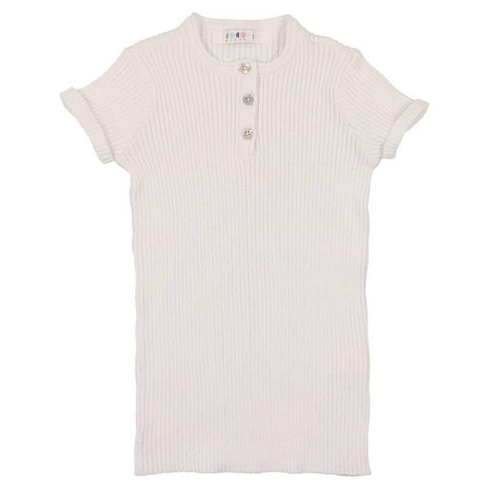 Knit Henley White