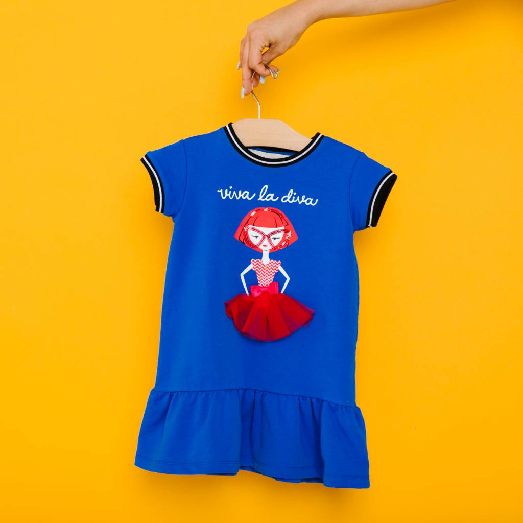Viva La Diva Dress Blue