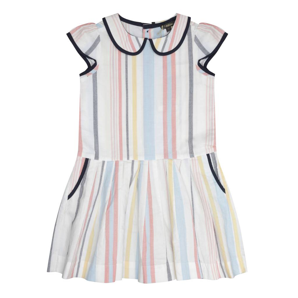 Bea Peter Pan Pleated Dress