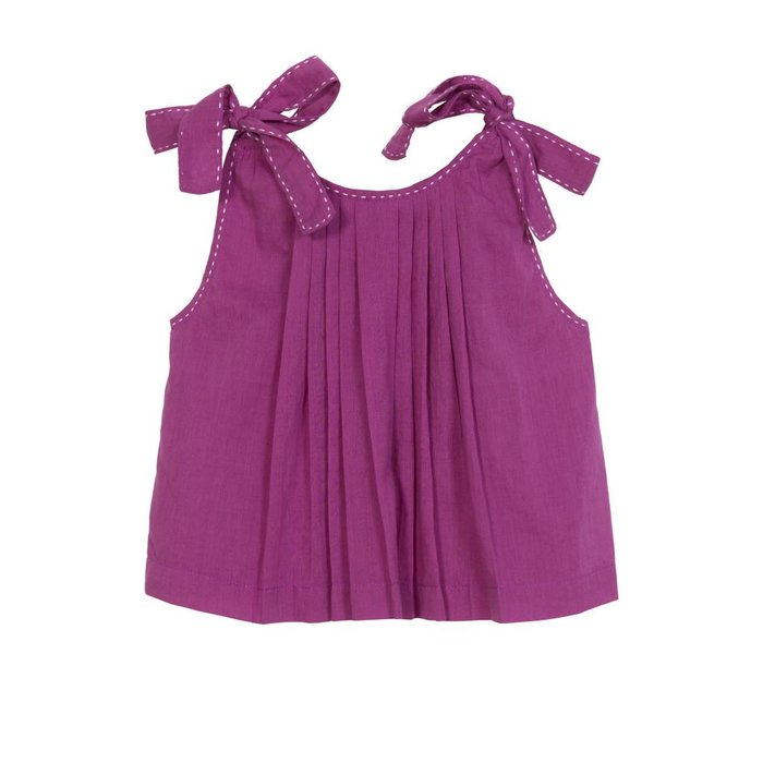 Inez Bow & Pinafore Top Orchid Voile
