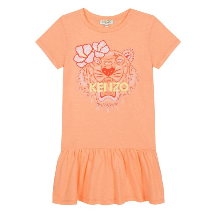 Tiger Dress Apricot