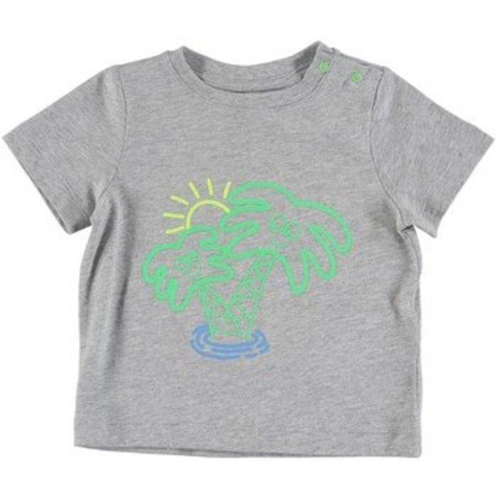 Palm Tree Tee Grey