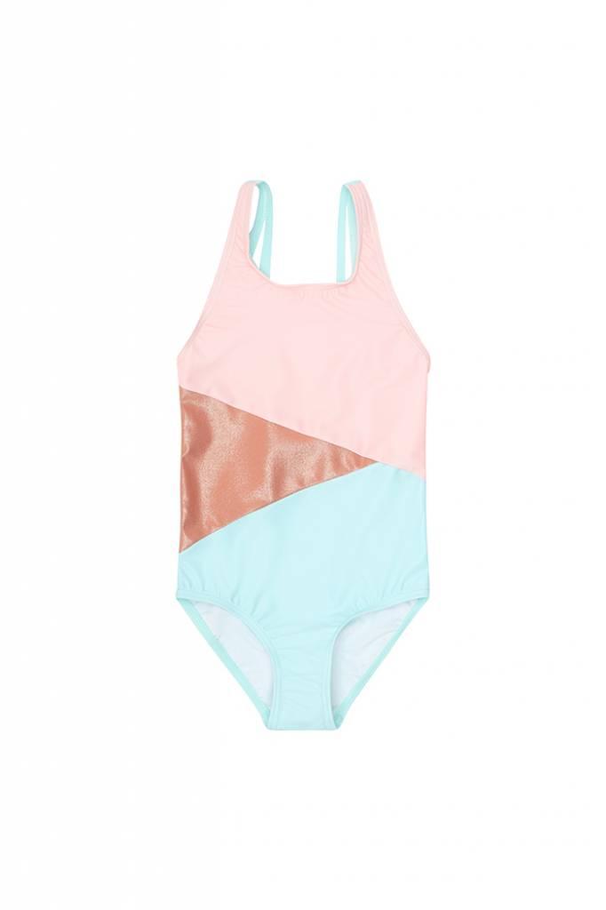 Darlin Swimsuit Block Swim Girl