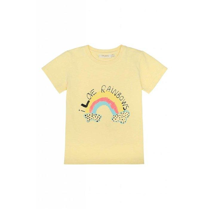 Bass Tshirt French Vanilla/Rainbow
