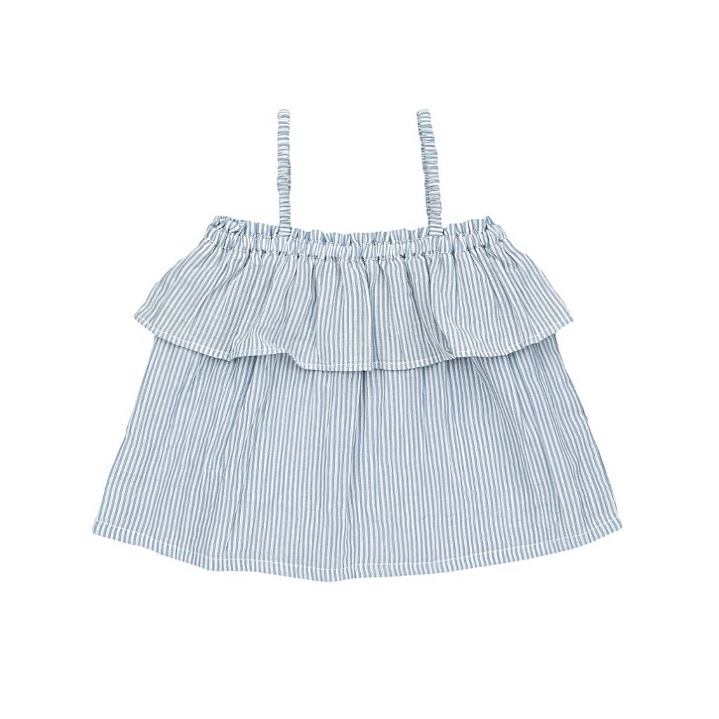 Ariel Top Stripes/Sky blue