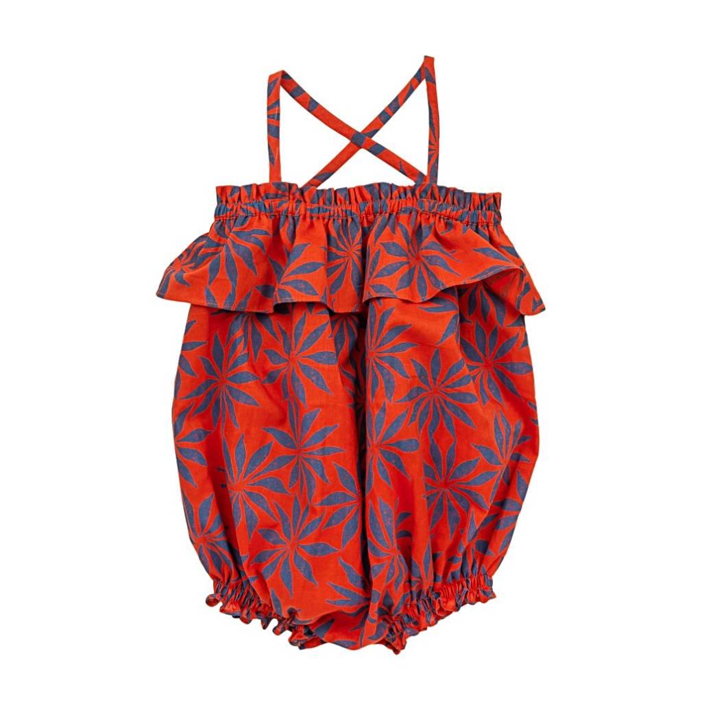Ariel Romper Pozzuoli red/Flowers