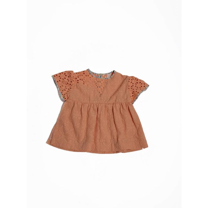 Asynnetrical Patchwork Tunic Russet