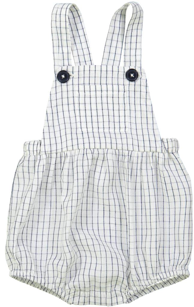 Camion Overall Check Navy Off White