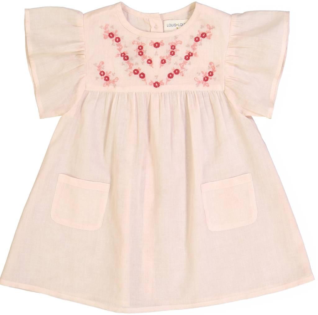 Ava Dress Cotton Veil Pink