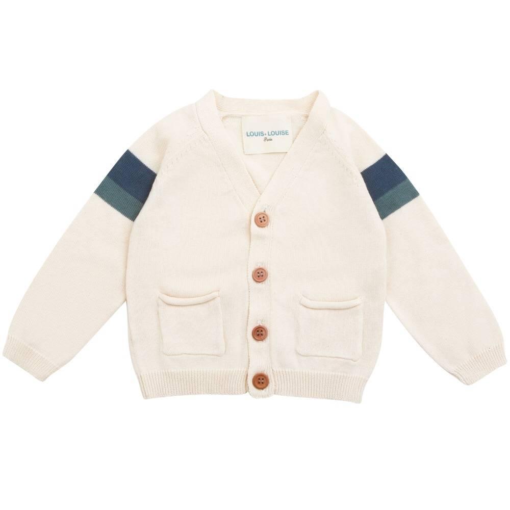 Hubert Cardigan Knitted Cotton Off White