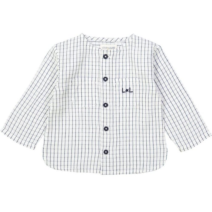 Baptise Shirt Check Navy Off White