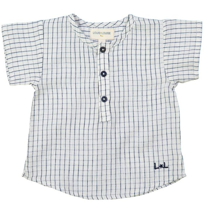 Solal Shirt Check Navy Off White