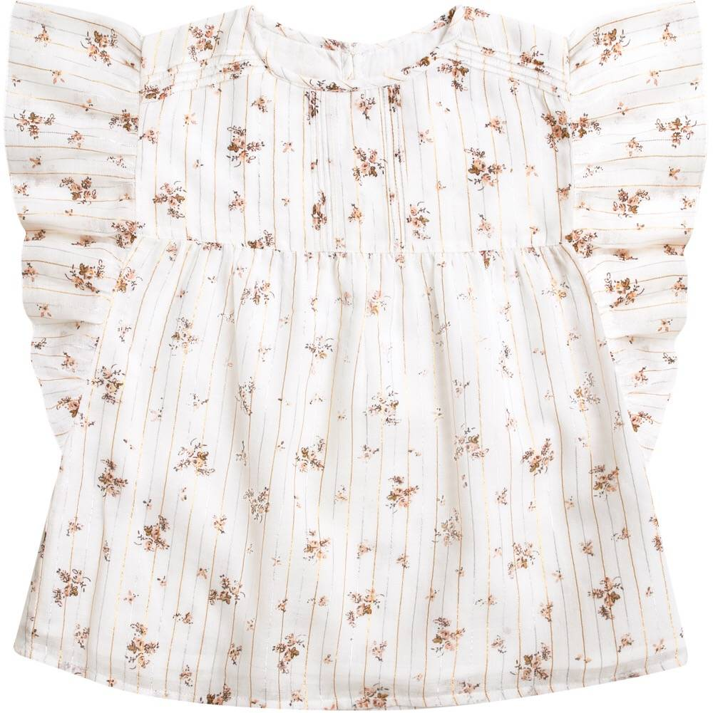 Tunic Melody Romantic Fowers Off White