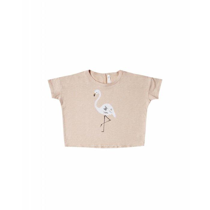 Flamingo Boxy Tee Blush