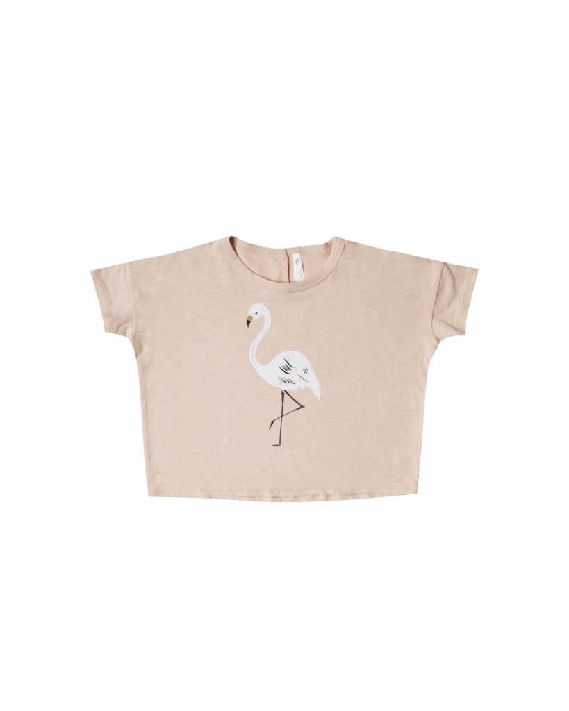Flamingo Boxy Tee Blush
